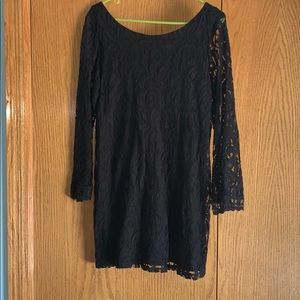 Lace black dress ! Great for date night.